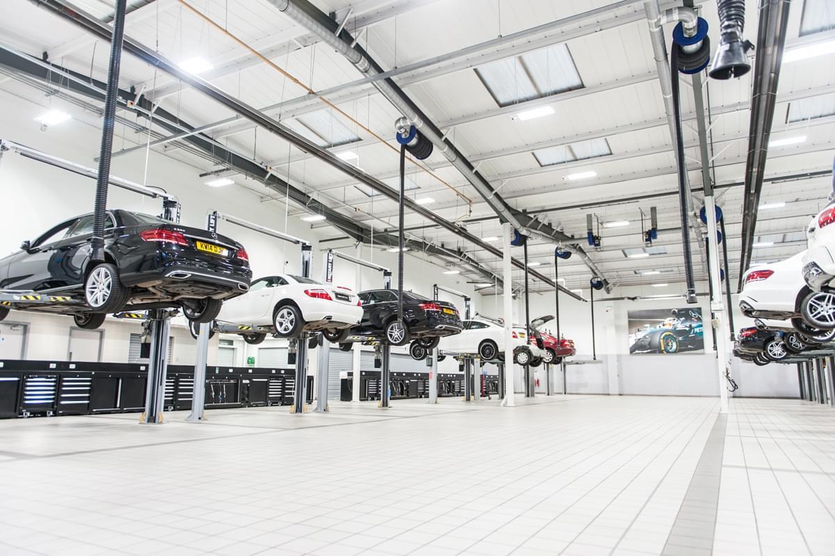 Mercedes benz workshops choose dea for Biggest mercedes benz